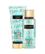 Victoria's Secret Aqua Kiss Shimmer Fragrance Lotion + Fragrance Mist Du... - $39.95