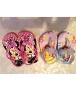 Lot of 2 Disney sandals Size 5/6 Minnie Mouse Size 5 Disney Princess san... - $15.95