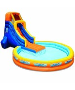 Banzai The Plunge Water Slide - Water Toy with Attached 12ft Diameter Po... - $560.38