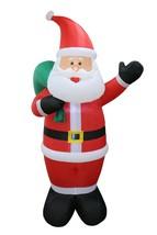 Christmas Lighted Inflatable Santa Claus Gift Bag Yard Garden Outdoor De... - $80.00
