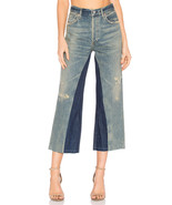 NWT CITIZENS OF HUMANITY CORA LIVINGSTON RELAXED UNDONE HEM CROP JEANS - $123.49