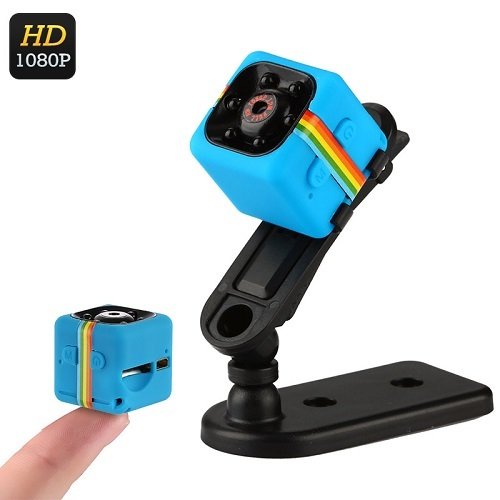 1080p Mini Sports Camera - CMOS Sensor, Motion Detection Night Vision - Blue