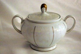 Rosenthal White Velvet Footed Sugar Bowl Continental Line Gold Trim - $22.86