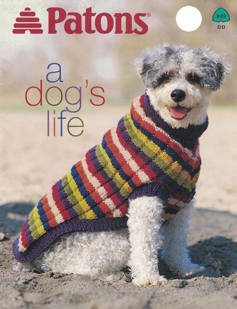 Knit Dog Sweaters Blanket Patterns Patons And Similar Items