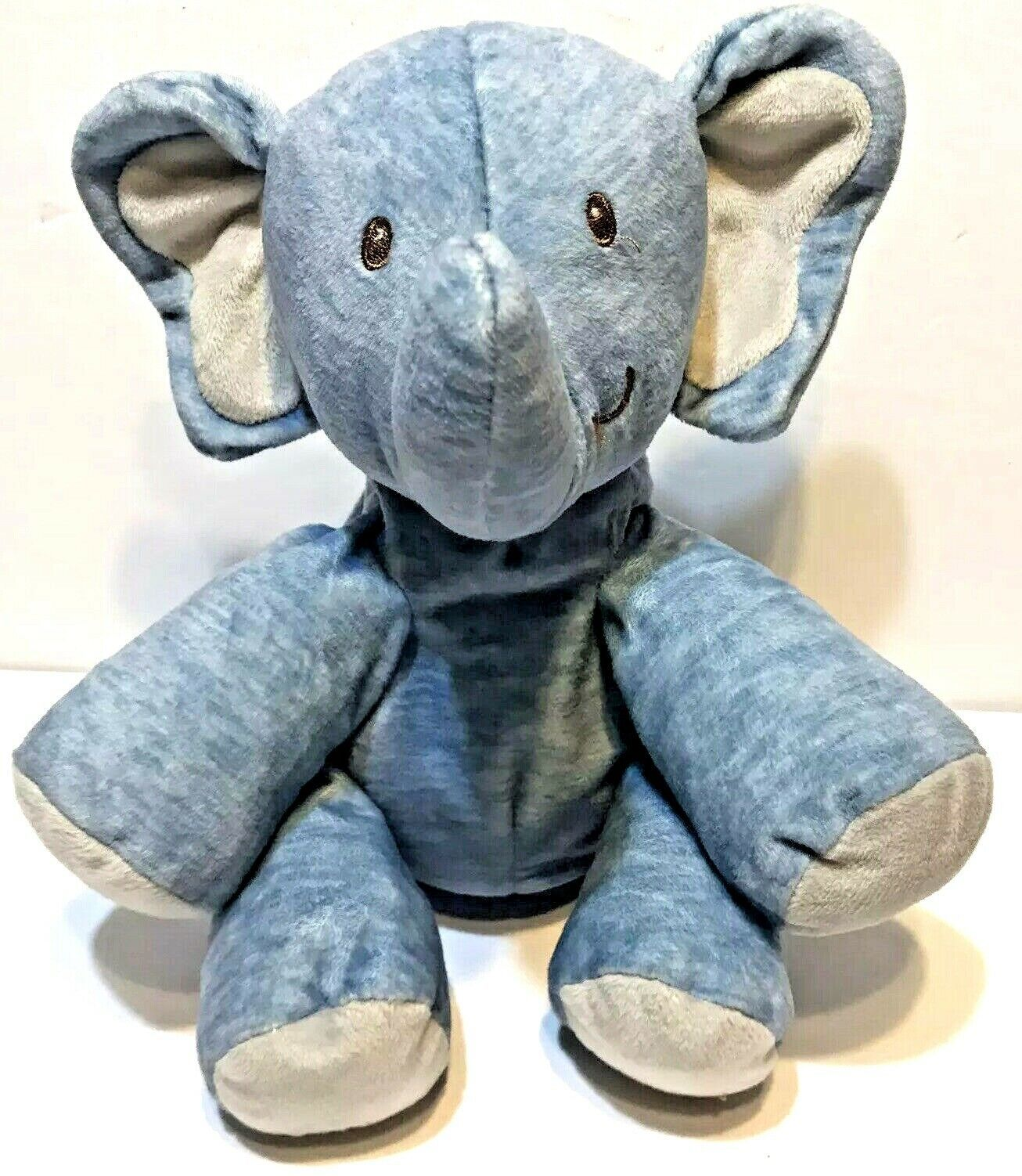Primary image for Baby Gund Playful Pals Blue Elephant Floppy Ears Stuffed Animal Plush 4060057 8""