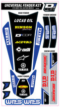 TRIM KIT BLUE WPS UNIVERSAL FOR FULL SIZE MOTORCYCLES D'cor Visuals - $54.95