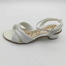Sam Edelman Womens Ingrid Ankle Strap Sandals White Knotted Block Heels 9.5 - $42.56