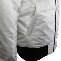 Contender Men's Premium Water Resistant Padded Zip Up Flight Bomber Jacket White image 4
