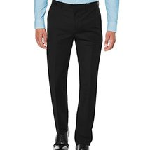 Maximos USA Men's Premium Slim Fit Dress Pants Slacks Black (32W x 32L)