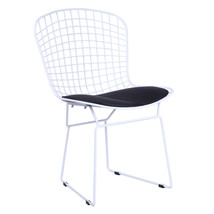 Fine Mod Imports White Wire Side Chair, Black - $125.00