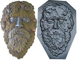 Betonex Mold Green Man FACE Plaque Old Man Tree Wood Spirit Faces Greenm... - $31.23