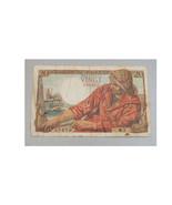 1942 Banque of France 20 Vingt Francs Note - $9.85