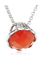 Mike Ellis New York Women's Necklace Stainless Steel / 1 Zirconia Red 42... - $49.14