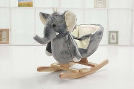 DanyBaby Rocking Animal Ride On Rocking Plush Elephant Chair-ASTM Safety... - $140.68
