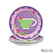 Tea Party Paper Dessert Plates - $2.36