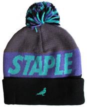 Staple Aqua Men's Pom Beanie Hat NWT