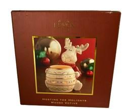 Lenox Moose Votive Holder Hosting The Holidays - $34.99