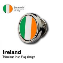 Irish Flag Tricolour Lapel Pin Badge / tie pin. in gift box enamel finish, irela