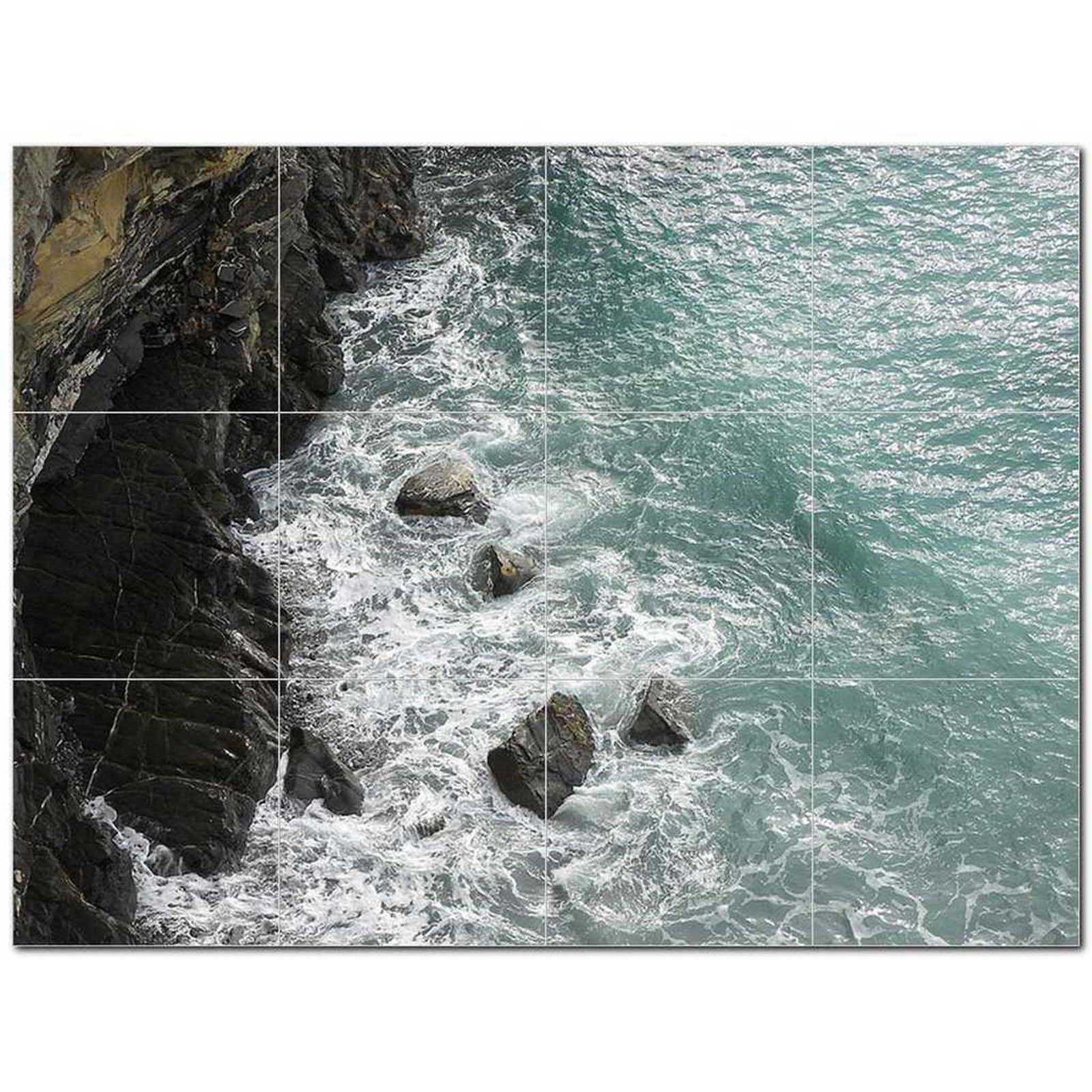 Primary image for Ocean Waves Ceramic Tile Mural Kitchen Backsplash Bathroom Shower BAZ405675
