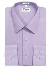 Berlioni Italy Men's Premium Classic Barrel Cuff Solid Lavender Dress Shirt image 2
