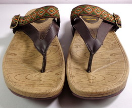Skechers Tone-Ups Sandals Womens Brown Thong Shoes Size 9 - $49.95