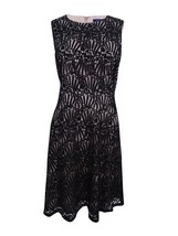 Tommy Hilfiger Women's Lace Fit & Flare Black / Nude Dress Size 2  - $33.66