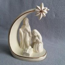 Mikasa Porcelain Holy Family Figurine Nativity Arch Star of Bethlehem Go... - $28.00