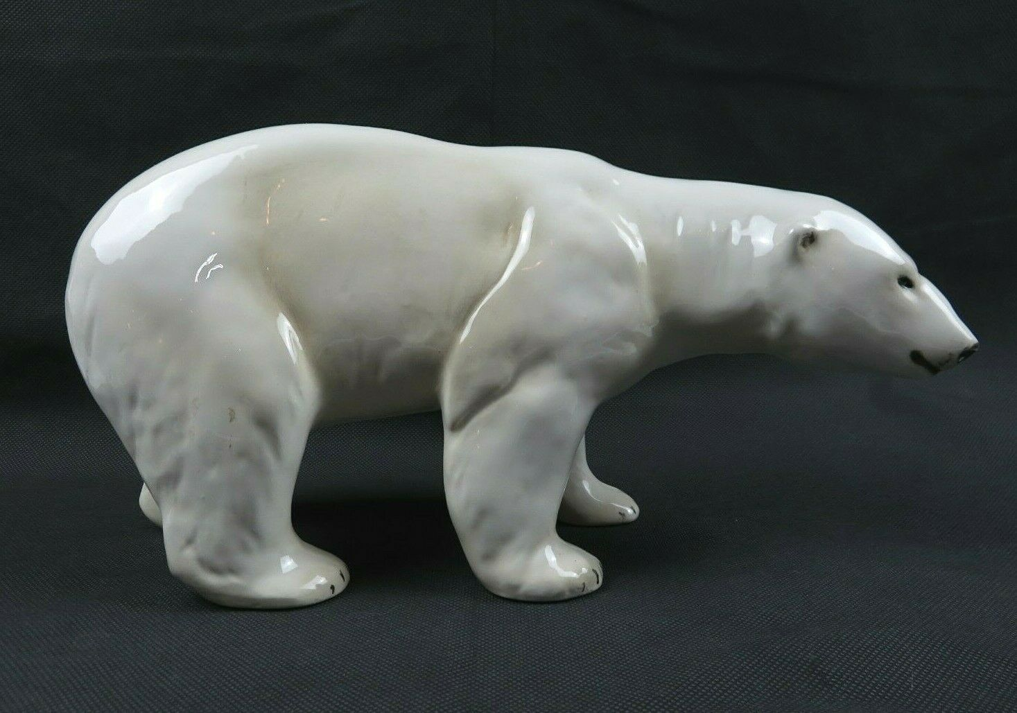 Northwoods Wooden Parquetry Rustic Polar Bear w Cub Design Tile Keychain