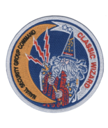 """4"""" NAVY CLASSIC WIZARD NAVAL SECURITY GROUP COMMAND EMBROIDERED PATCH  - $18.04"""
