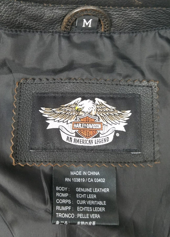 e55fadc19 Harley Davidson Mens Vest Black Leather and 50 similar items
