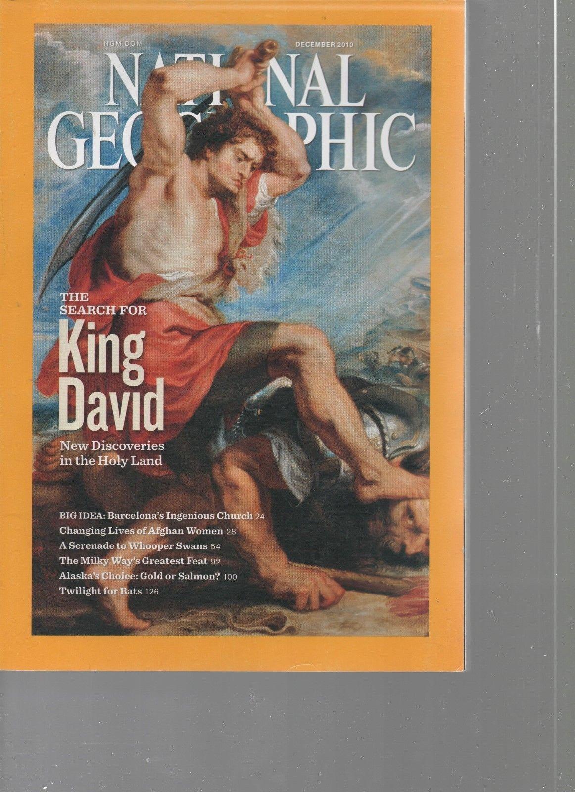 National Geographic - December 2010   King David, Barcelona, Afghan Women, Swans