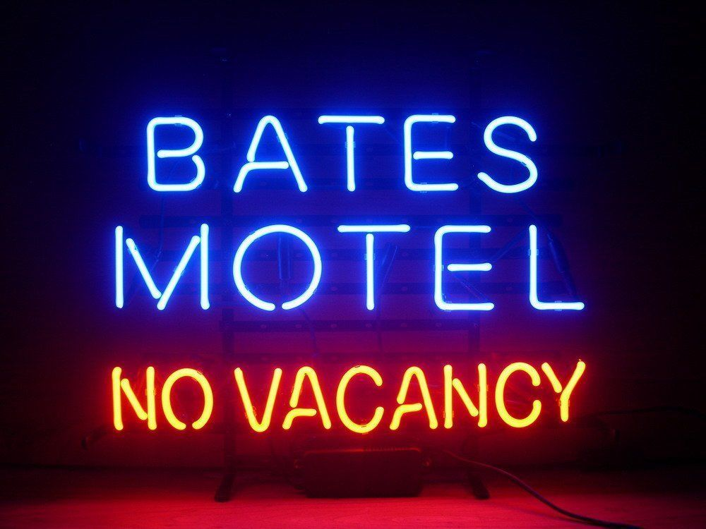 """Bates Motel No Vacancy Man Cave Beer Lager Neon Light Sign 17""""x14"""""""