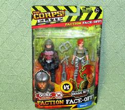 NEW Corps Elite Faction Face Off Lot Ogre Snake Bite Action Figures WALMART 2016 - $9.90