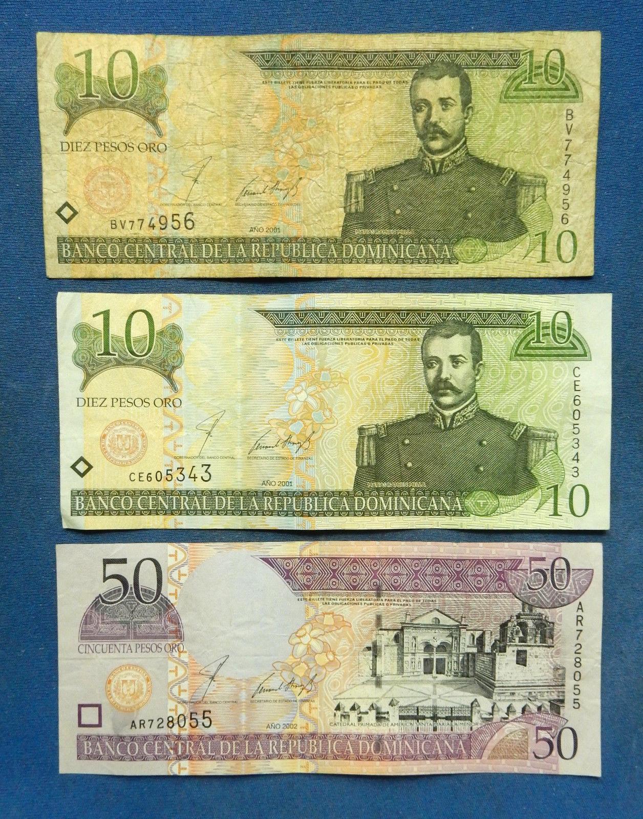Dominican Republic Bank Notes - $59.00