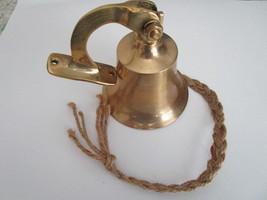"""Small Brass Dinner Bell Wall Mount 4"""" - $19.99"""