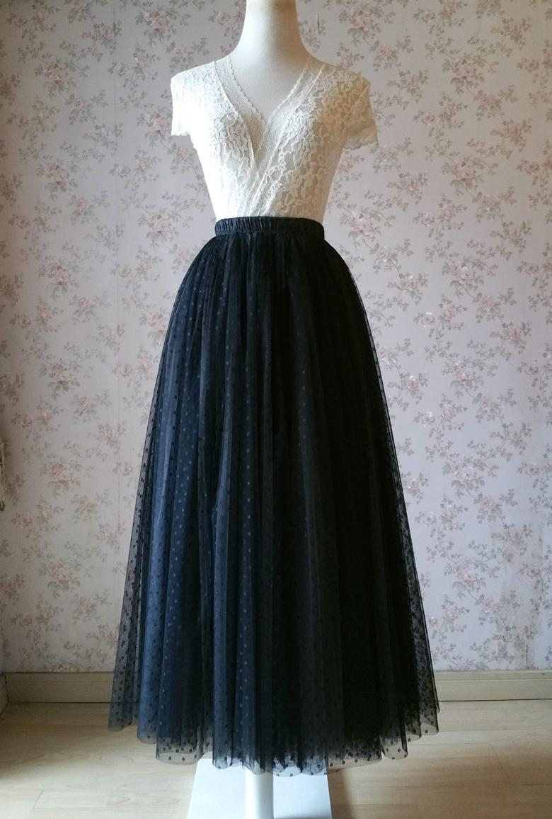 Polka dot dress skirt 780 2