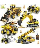 HUIQIBAO Engineering Bulldozer Crane Dump Truck Building Blocks City Constructio - $26.73 - $45.54