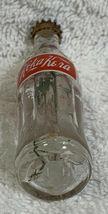 Russia Coke Coca-Cola Mini Miniature dried Purple flowers crystal glass bottle image 7
