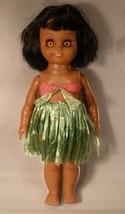 Vinyl Hawaiian Doll Made in Hong Kong - $10.00