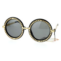 Metal Outline Oversized Round Circle Frame Sunglasses Womens Fashion - $9.95