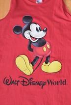 VTG 1990s Mickey Mouse Walt Disney World Red Tank Top Sleeveless T Shirt USA L - $25.00