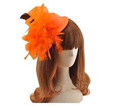 Beautiful Charming Feather Hairpin for Parties/Stage/Wedding,Hat,Orange