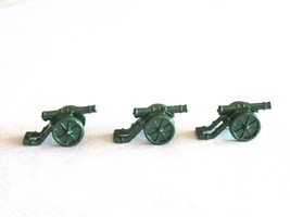3x Risk 40th Anniversary Edition Board Game Metal Cannon Piece Green Army Lot - $9.99