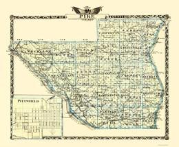 Pike County Illinois  - Warner 1870 - 23.00 x 27.94 - $36.58+