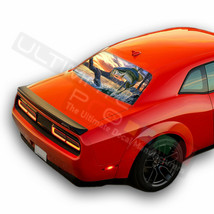 Fishing Rear Windows See Thru Stickers Perforated for Dodge Challenger 2... - $59.80