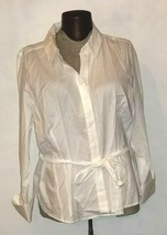 NWT Lane Bryant Women's White Long Sleeve Button Down Shirt Plus Size 24 - $19.99