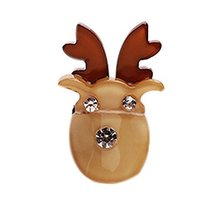 5 Pieces Christmas Lovely Cartoon Hair Clips Cute Hair Claw For Girls, BROWN image 1