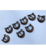 8-pack copper-finish small harness buckles - $12.95