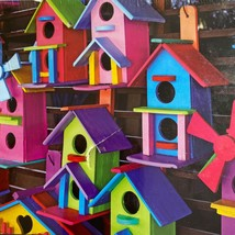 LPF Colorluxe Colorful Bird Houses 500 Piece Puzzle NEW - $9.33