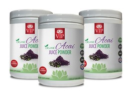 antioxidant berries - ORGANIC ACAI JUICE POWDER - superfood powder 3B - $56.06